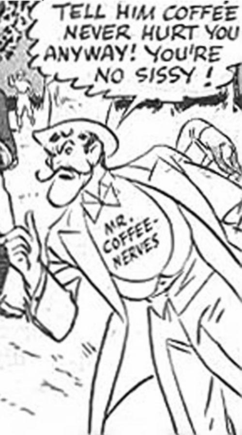 Mister Coffee Nerves (vintage Postum adverts) ghosting around