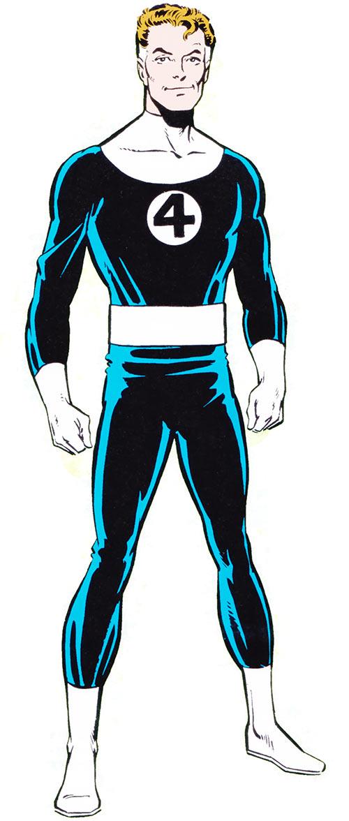 Mister Fantastic Four (Marvel Comics) 1983 handbook art