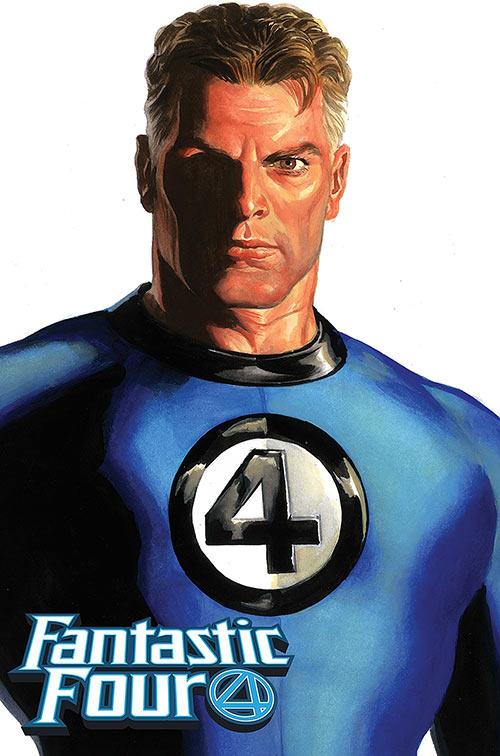 Mister Fantastic (Marvel Comics) (Fantastic Four) painted art by Alex Ross