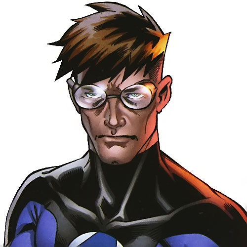 Ultimate Mister Fantastic (Ultimate Marvel Comics) closeup with goggles