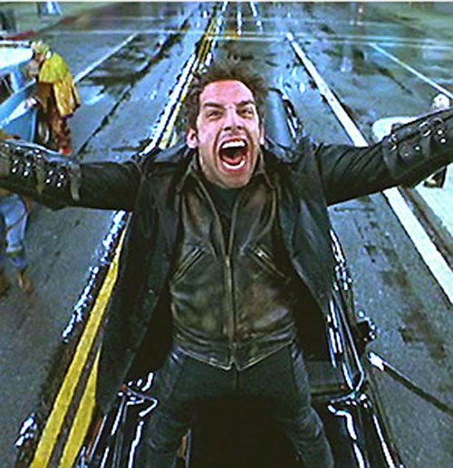 Mister Furious (Ben Stiller in Mystery Men) dramatically yelling