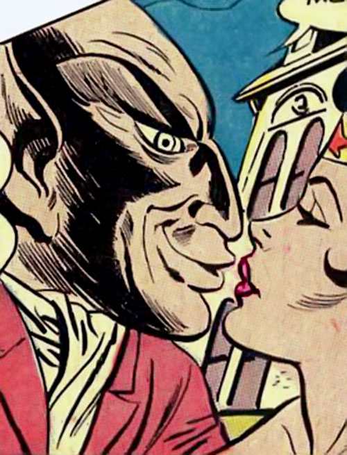 Mister Gargoyle kisses Wonder Woman (DC Comics)