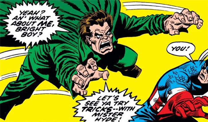 Mister Hyde (Calvin Zabo) vs. Captain America