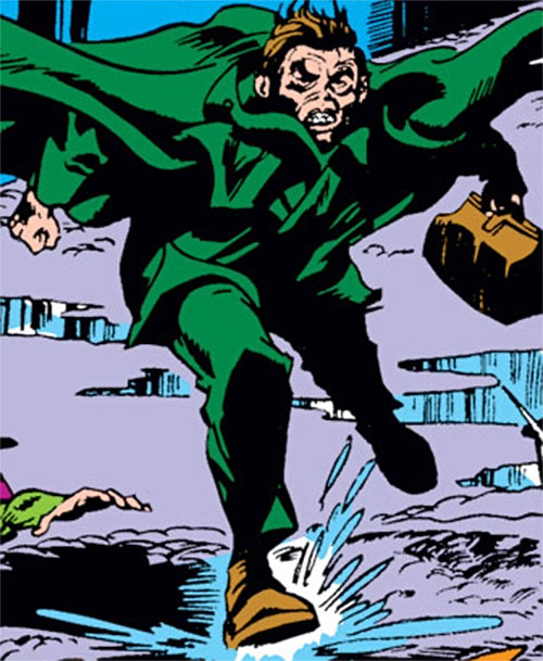 Mister Hyde (Marvel Comics) running with a leather bag