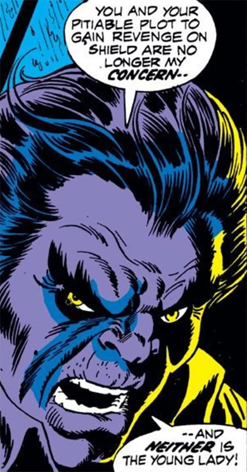 Mister Hyde (Marvel Comics) in dark purple lighting