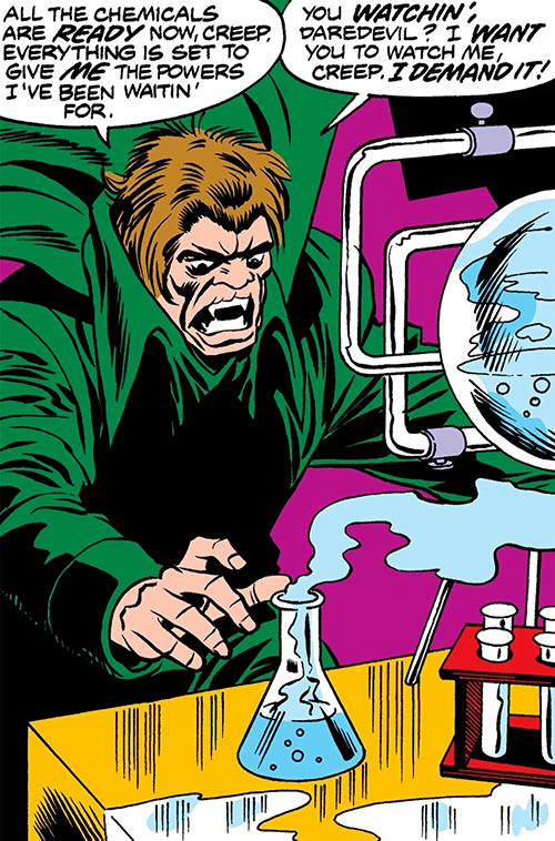 Mister Hyde (Marvel Comics) doing chemistry