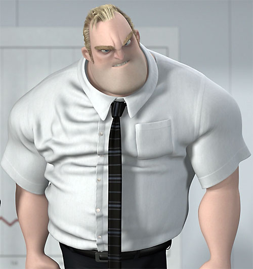 Mister Incredible (Pixar's The Incredibles) raging in his civvies