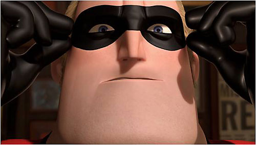 Mister Incredible (Pixar's The Incredibles) puts on his mask