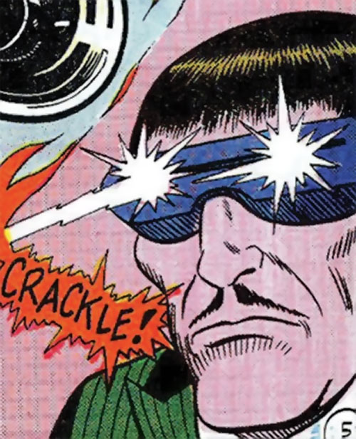Mister Ize (Sarge Steel enemy) (Secret Agent Charlton comics) shooting eye beams