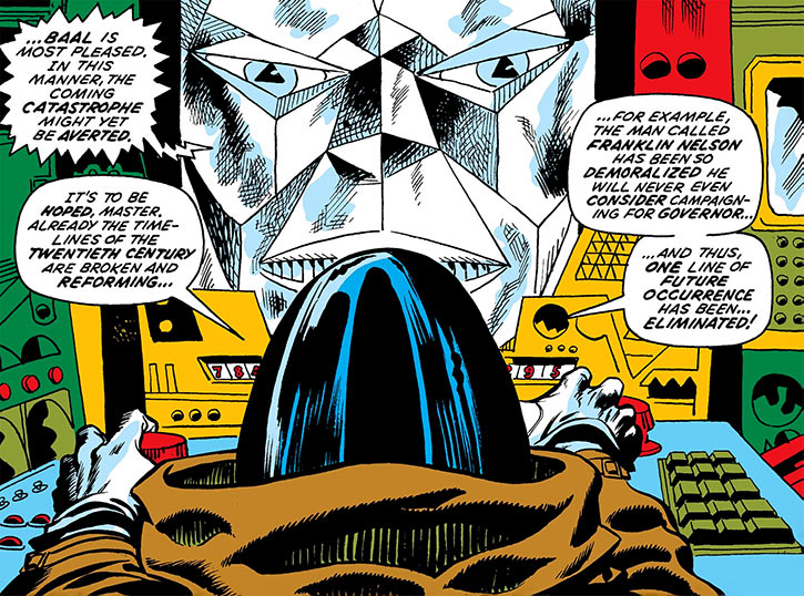 Mister Kline the Assassin (Marvel Comics) and the Baal super-computer of the future