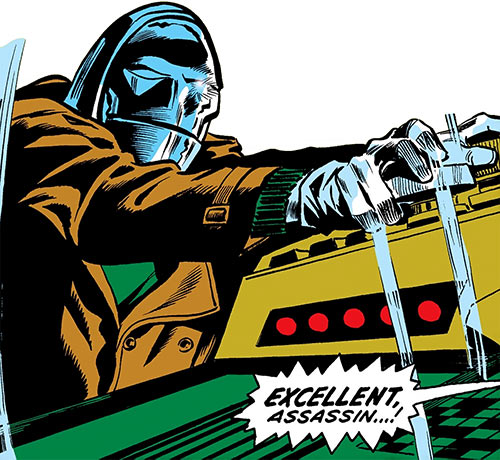 Mister Kline the Assassin (Marvel Comics) operates a machine