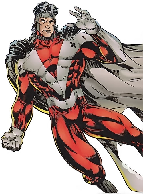 Mister Majestic of the WildCATs (Wildstorm Comics) flying sideways