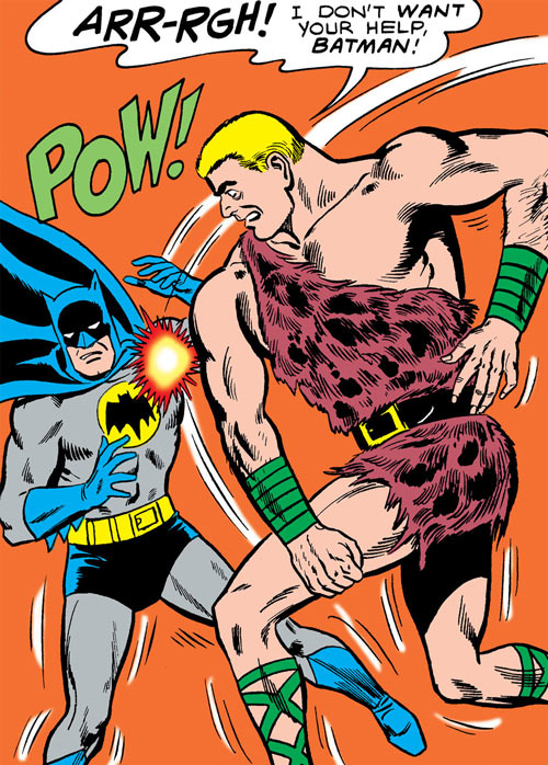 Mister Mammoth (Silver Age Batman character) fights Batman