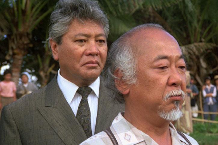 Mister Miyagi - Pat Morita in Karate Kid - with Sato