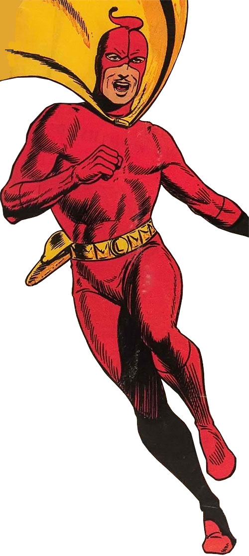 Mister Scarlet (Fawcett Comics) over a white background