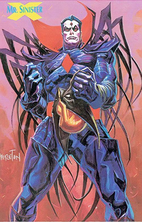 Mister Sinister (X-Men enemy) (Marvel Comics) by Brereton, holding Wolverine's cowl