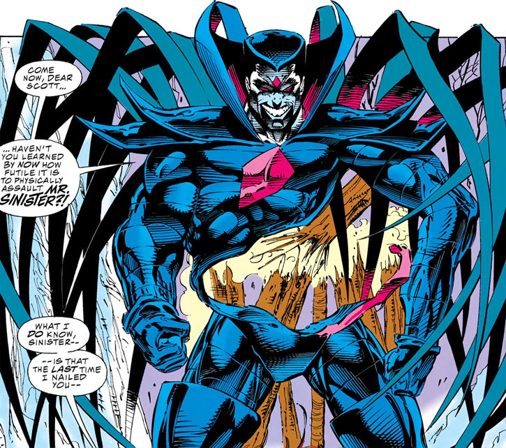 Mister Sinister deforming like a T-1000 Terminator