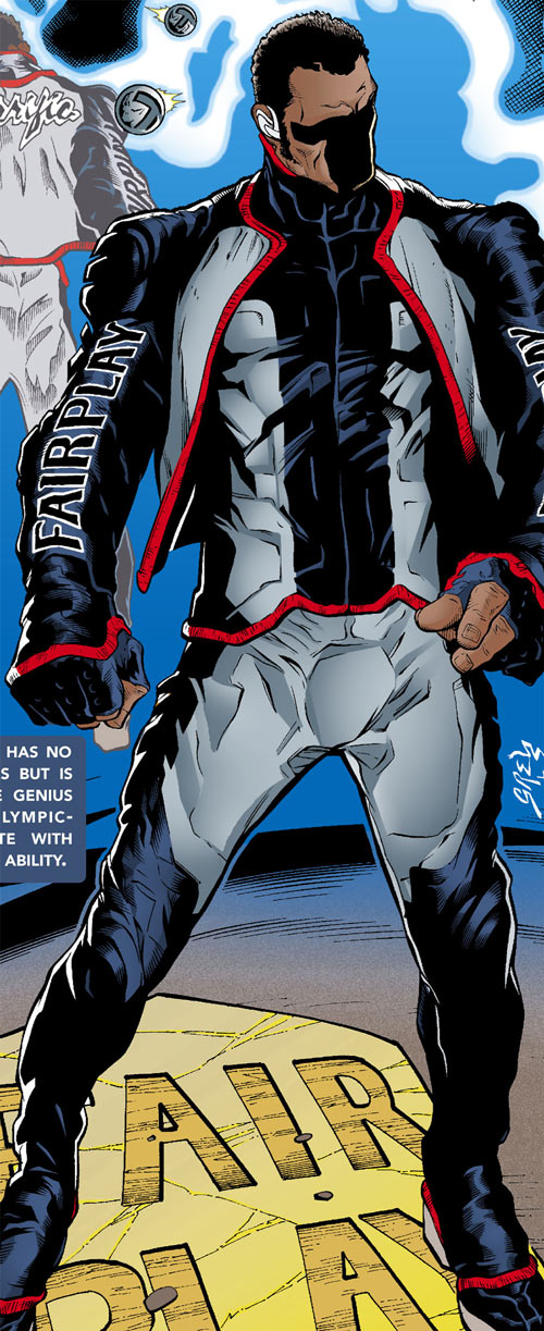 Mister Terrific of the JSA (Michael Holt) (DC Comics) from a secret origins issue