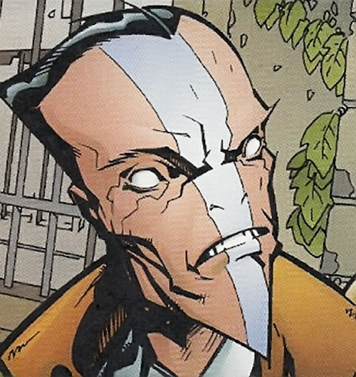 Mister White the Daemonite (WildCATs enemy) (Wildstorm comics) pointy face closeup
