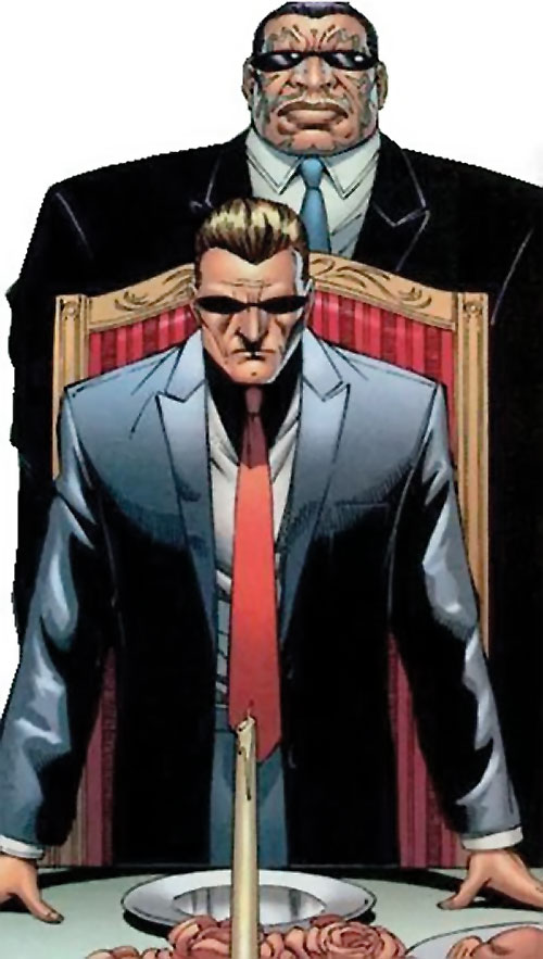 Mister X (Wolverine / Thunderbolts character) (Marvel Comics) and Blok in a restaurant
