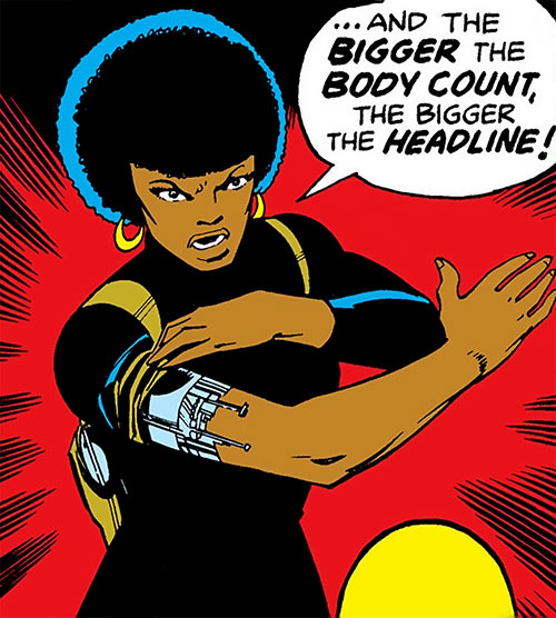 Misty Knight (Marvel Comics) 1970s - bionic arm