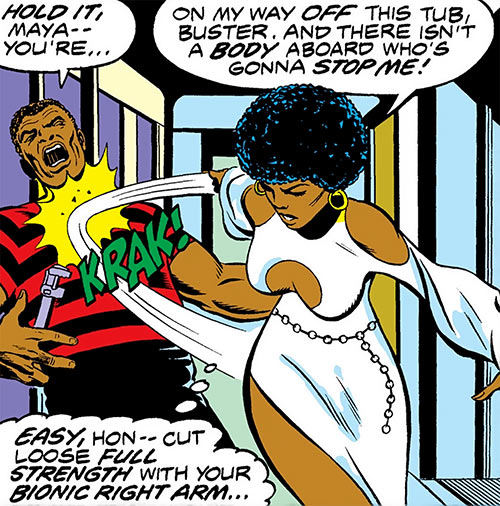 Misty Knight (Marvel Comics) 1970s sexy white dress
