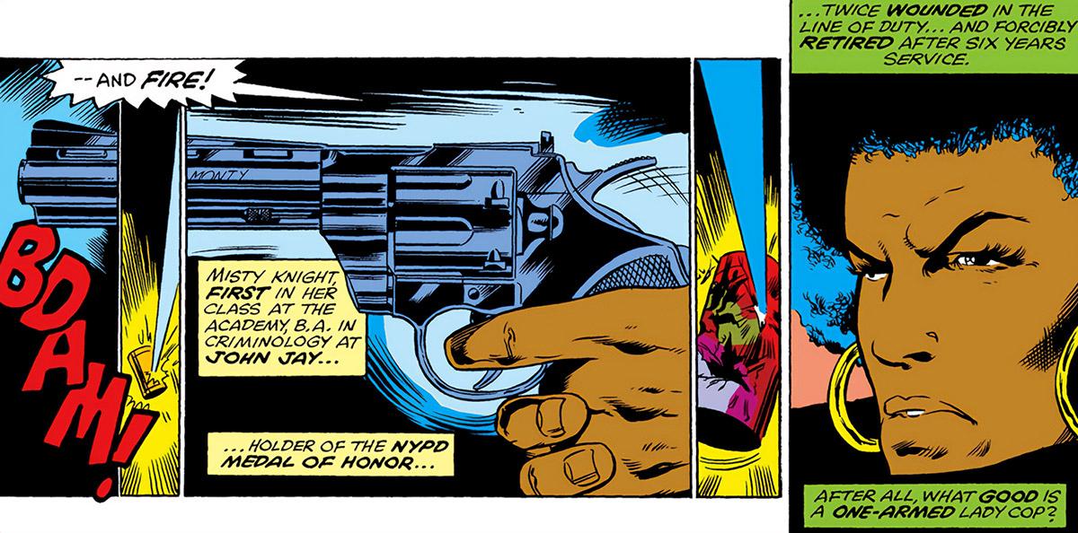 Misty Knight (Marvel Comics) 1970s - Colt Python .357