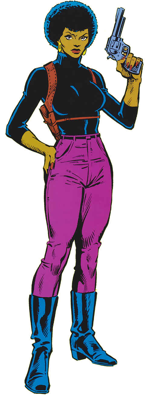 Misty Knight (Marvel Comics) 1980s official handbook picture
