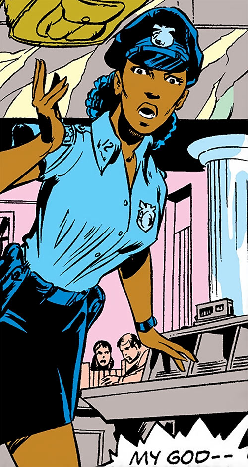Misty Knight (Marvel Comics) 1970s - NYPD female patrol uniform