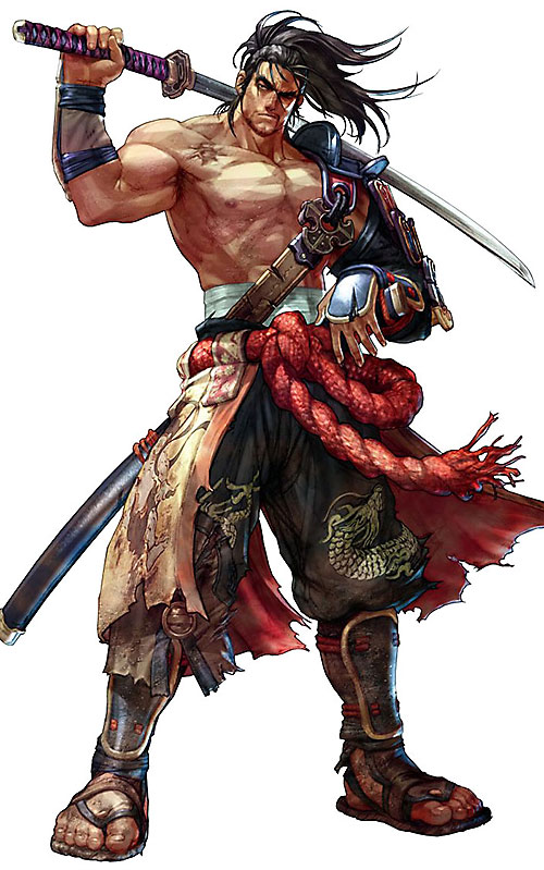 Mitsurugi Heishiro (Soul Calibur) with his sword on his shoulders