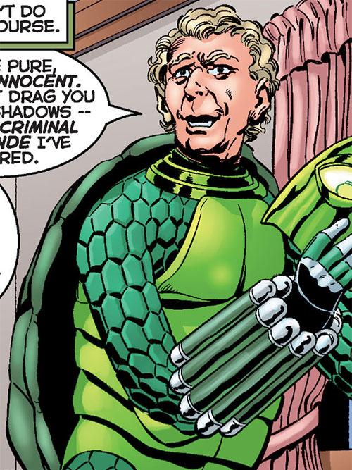 Mock Turtle (Astro City comics) removing his helmet