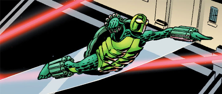 The Mock Turtle evades laser beams