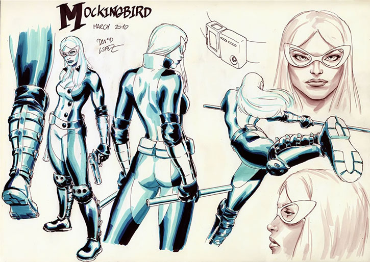 Mockingbird character model sheet by David Lopez