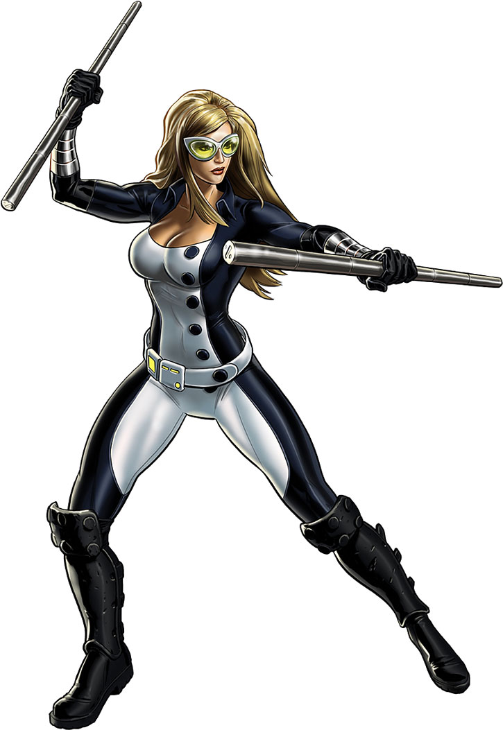 Mockingbird (Bobbi Morse) in a fighting stance