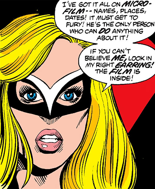Mockingbird - Marvel Comics - Earliest 2 - Bobbi Morse - Face closeup