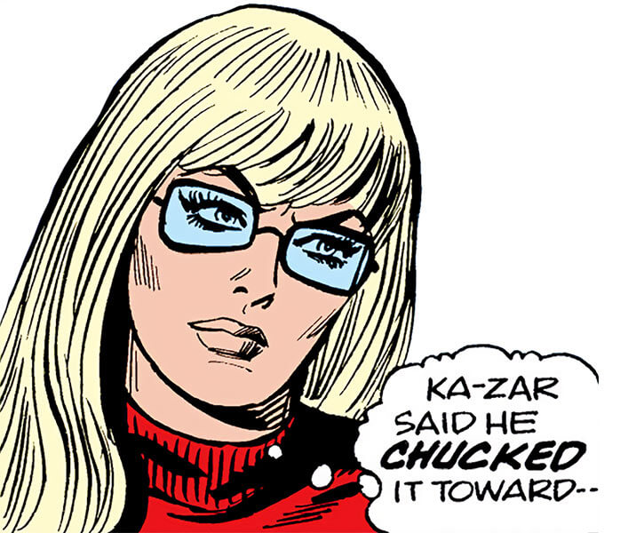 Mockingbird - Marvel Comics - Earliest - Bobbi Morse - Face close up glasses