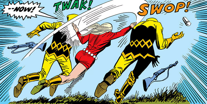 Mockingbird - Marvel Comics - Earliest - Bobbi Morse - Knocking out two AIM agents from behind