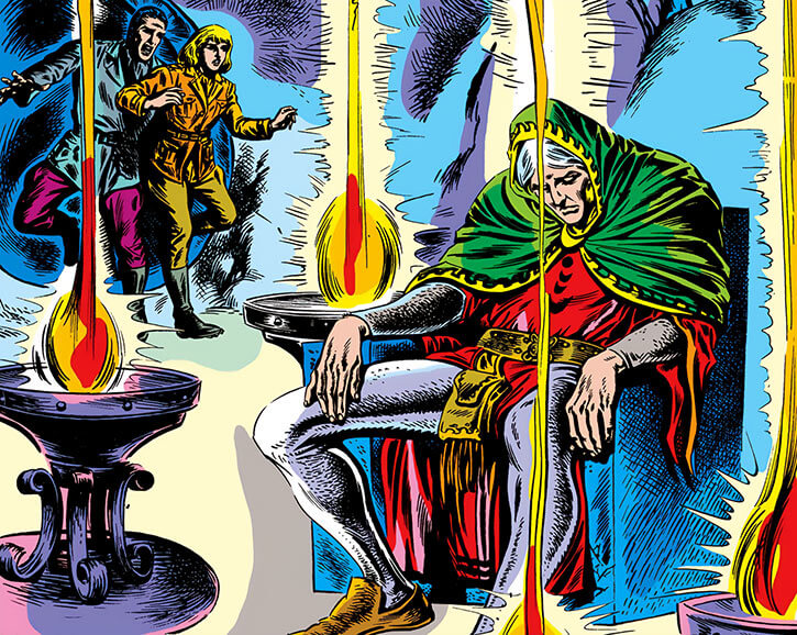 Modred the Mystic (Marvel Comics) (Earliest appearances) in magical suspended animation