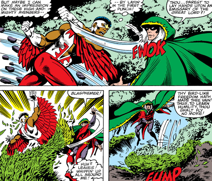 Modred the Mystic (Marvel Comics) (Early) vs. the Falcon