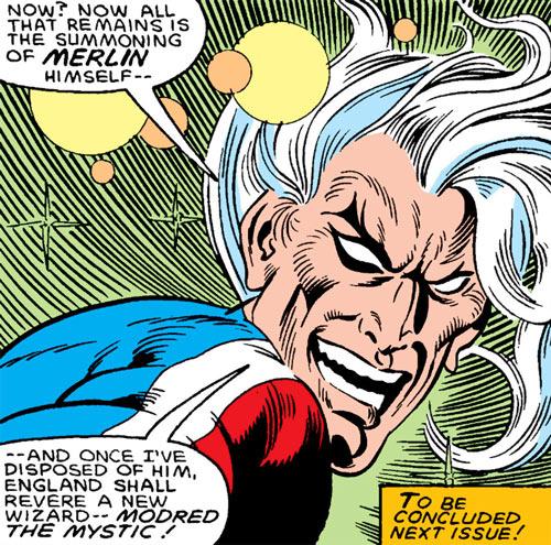 Modred the Mystic (Marvel Comics) (Early) crazy face closeup