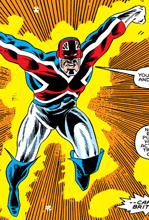 Modred the Mystic (Marvel Comics) (Early) Captain Britain costume