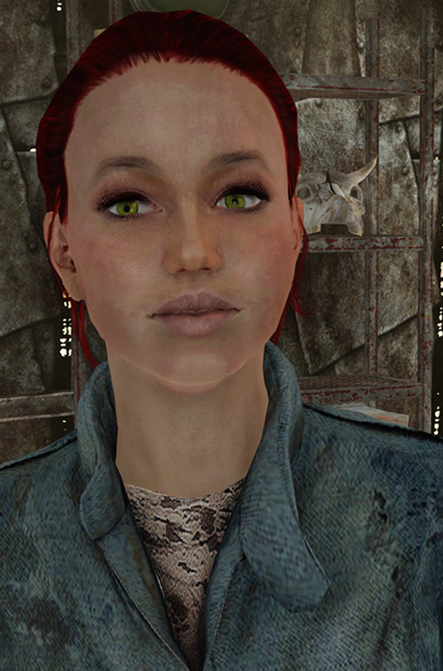 Moira Brown (Fallout 3 redesigned) face closeup