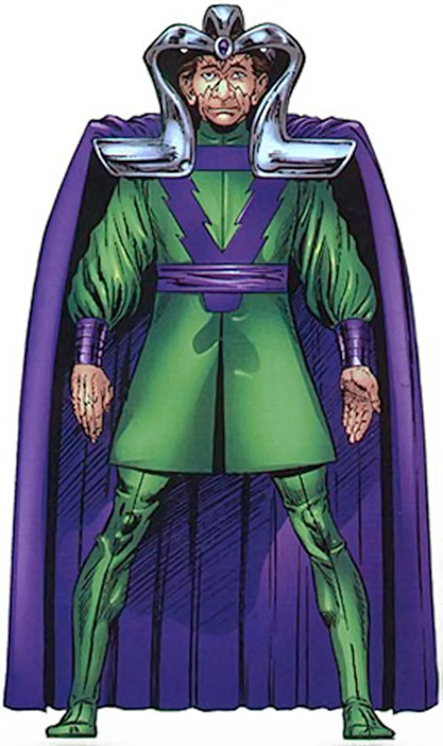 Molecule Man (Marvel Comics) with the metal headgear
