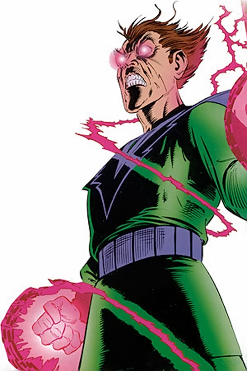 Molecule Man (Marvel Comics) using his powers