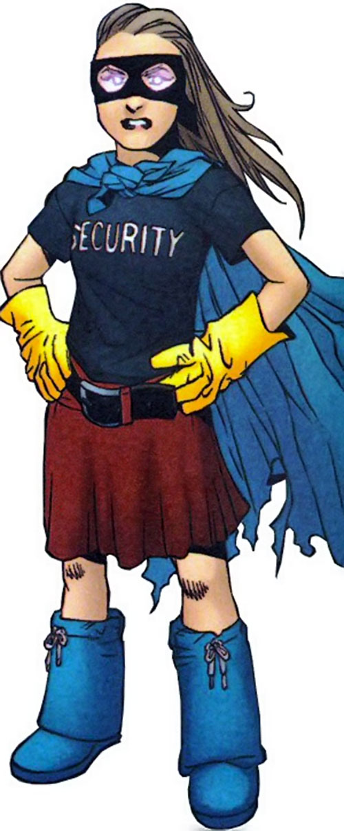 Molly Hayes aka Bruiser of the Runaways (Marvel Comics) in her home made super-hero costume