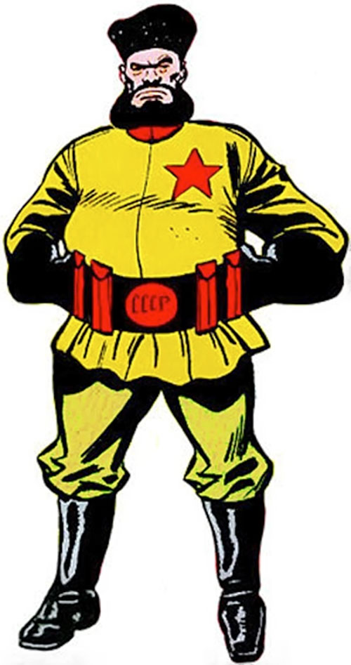 Molotov of the People's Heroes (DC Comics) with hands on his hips