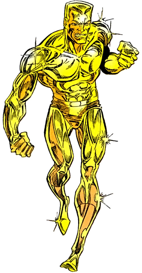 Molten Man (Spider-Man character) is very shiny