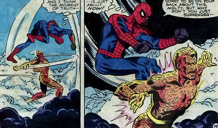 The Molten Man (Mark Raxton) vs. Spider-Man