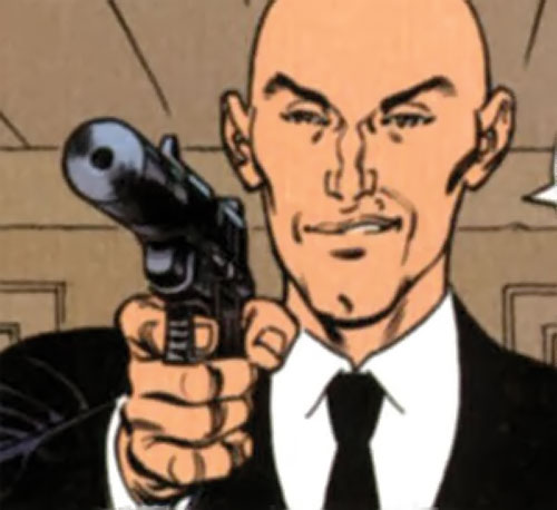 La Mangouste (Mongoose) (XIII graphic novels) pointing a silenced pistol