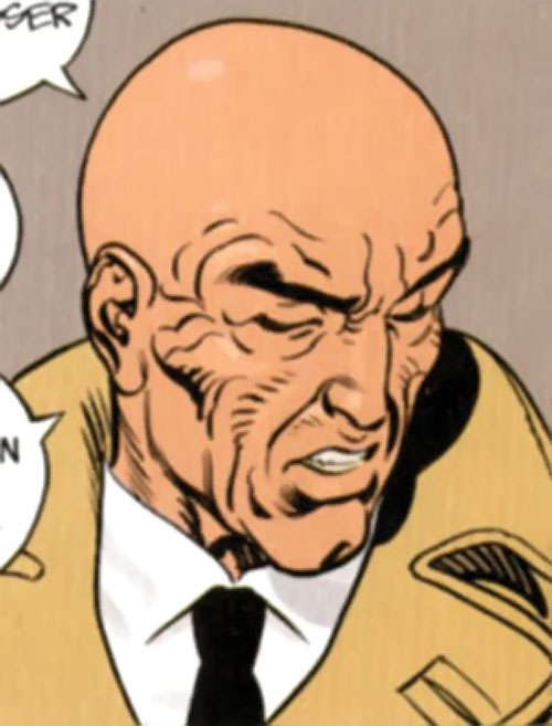 La Mangouste (Mongoose) (XIII graphic novels) face closeup as an old man